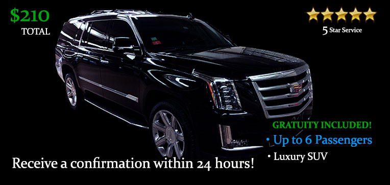 Book this One Way SUV Transfer - It's Only $210.00 TOTAL! Including Gratuity