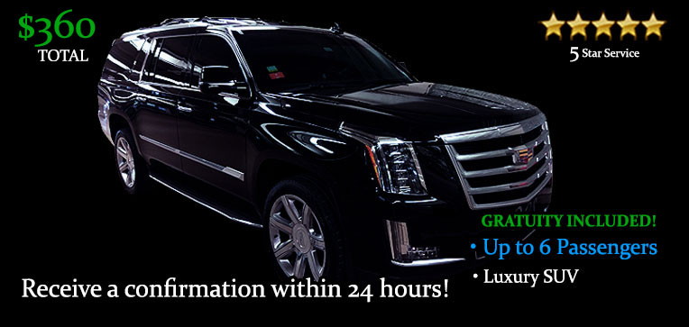 Book this Round-Trip SUV Transfers - It's Only $360.00 TOTAL! Including Gratuity