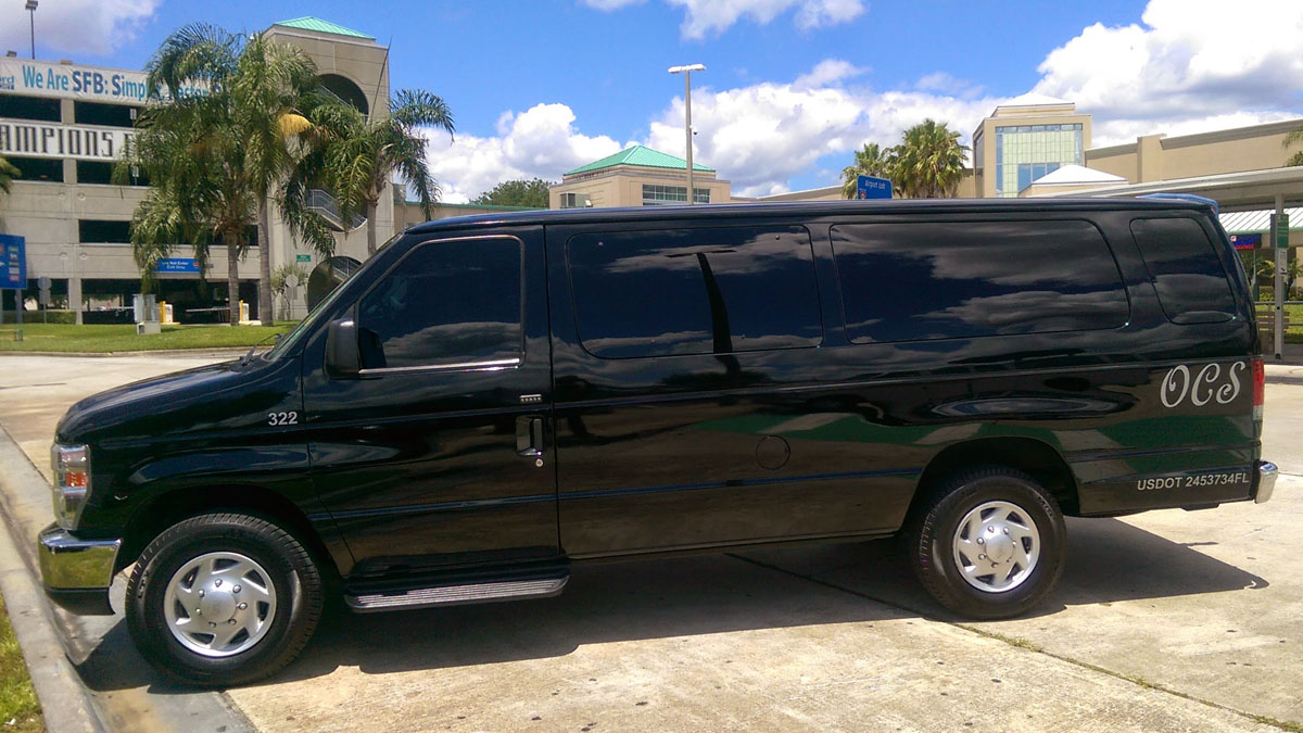 Sanford Airport to Disney One Way XL Van $180.00 TOTAL! Including Gratuity