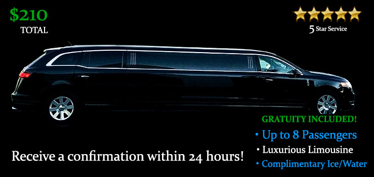 Book this One Way Limousine Transfer - It's Only $210.00 TOTAL! Including Gratuity